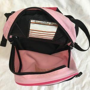 5bc2f6ebb560 Nike Bags - Nike Pink Black Mesh front zip pocket Backpack